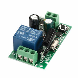 Details about 1-Channel AC 220V Wireless RF Remote Control Receiver Relay  Switch 433MHz