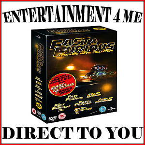 fast and furious complete movie collection 1 6 brand new dvd boxset ebay. Black Bedroom Furniture Sets. Home Design Ideas