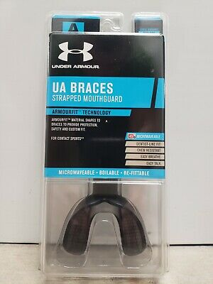 Details about  /Under Armour Adult  Braces Mouthguard Strapped Black  R-1-1254-A