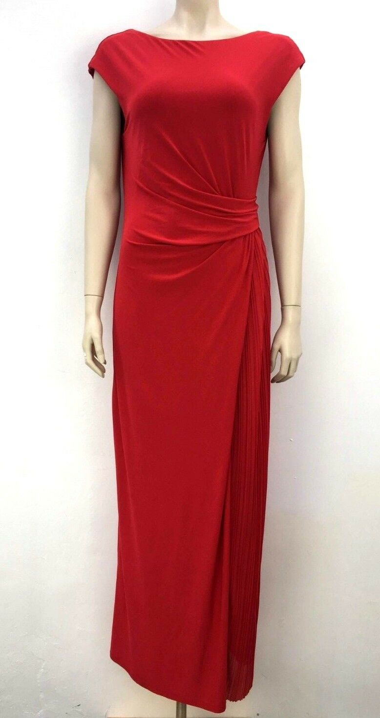 Wallis Red full length maxi evening dress gown cruise party occasion