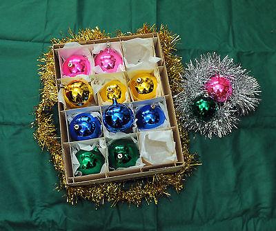 Addobbi Natalizi Anni 60.Palline Vintage Per Addobbo Albero Di Natale Anni 60 In D Cm 6 00 Conf Da 12 Ebay