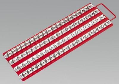 "Sealey AK271 Socket Rail Tray RED 1/4"", 3/8"" & 1/2""Sq Drive Brand New"