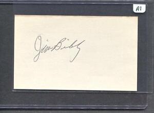 Jim-Bibby-Signed-3X5-Index-Card-Cardinals-1972-Debut-Flat-Rate-Ship-A1
