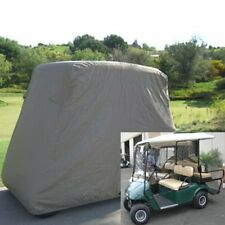 Waterproof 4 Passenger Golf Cart Taupe Cover , Fit EZ Go , Club Car , Cart US VP