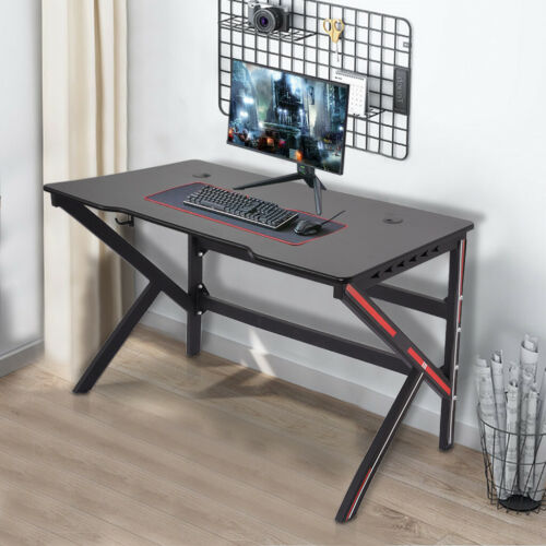 Details about  /Gaming Desk 47.2 inches Home Office Computer Table Black Gamer Workstation