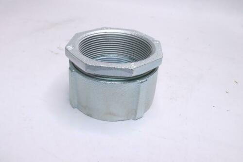 """Eaton Crouse-Hinds 197 Rigid 3-Piece 3/"""" Coupling Threaded Malleable Iron"""