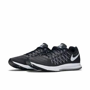 458b87b0b2497 Nike Men s Zoom Pegasus 32 Running Shoes Black White-Dark Grey ...