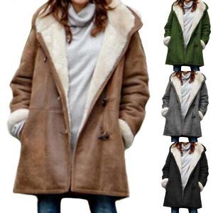 Women-Winter-Warm-Casual-Fleece-Hoody-Hooded-Loose-Long-Sleeve-Overcoat-Outwear