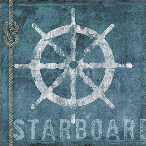 Starboard Keilrahmen-Bild Leinwand Hafen maritim Urlaub Schiffe Conrad Knutsen