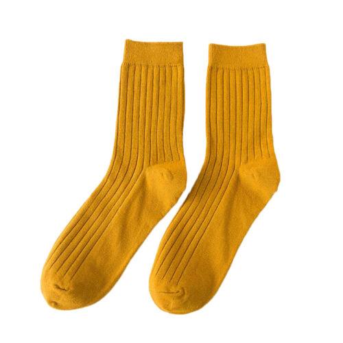 Mens Soft Cotton Rich Elastic Long Business Dress Socks Lot Striped Solid Sock