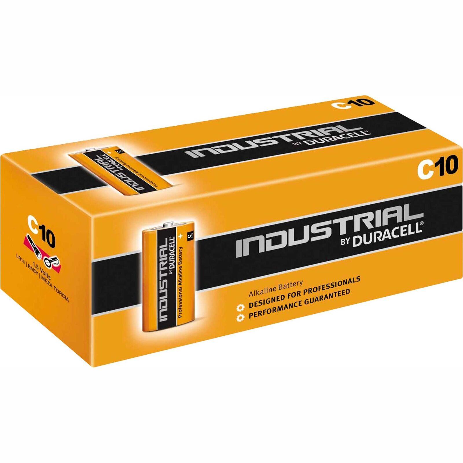 10 x Duracell Batteries Baby C lr14 mn1400 Alkaline 1.5v Industrial 10er Pack