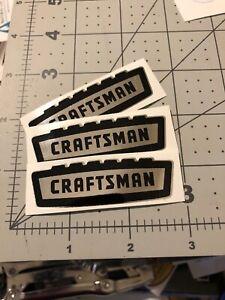 Craftsman-vintage-1958-60-s-style-decal-tool-box-Crown-Black-On-Chrome-2-1-2-X3