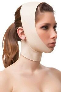 Facial-Compression-Smooth-Chin-Strap-With-Medium-Neck-Compression-XLarge-Black