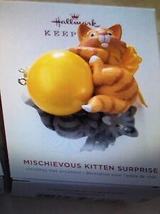 Hallmark Keepsake 2019 Mischievous Kitten Suprise Box Ornament
