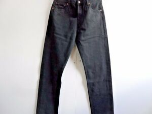 Grade-a-jeans-Levis-501-Negro-recta-Mens-W36-L34-Vintage-501s-WB081