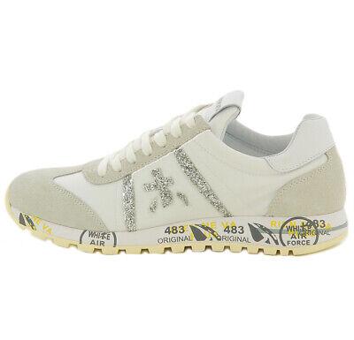 Premiata sneaker Lucy 4548 blanca con purpurina para mujer Premiata LUCY 4548WHI | eBay