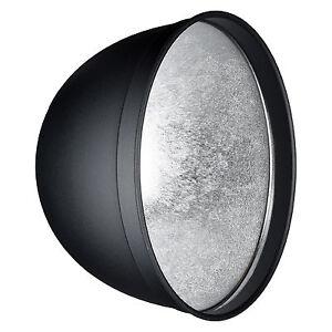 HENSEL-12-034-Reflektor-aus-Metall-mit-EH-Anschluss-Lichtformer-Silber