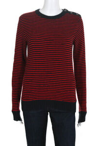 Zadig-amp-Voltaire-Women-039-s-Crew-Neck-Jade-Sweater-Red-Blue-Size-Small-10805477
