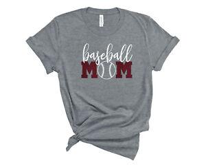 Personalized-Baseball-Mom-Glitter-T-Shirt-Custom-Baseball-Mom-Sports-Tee