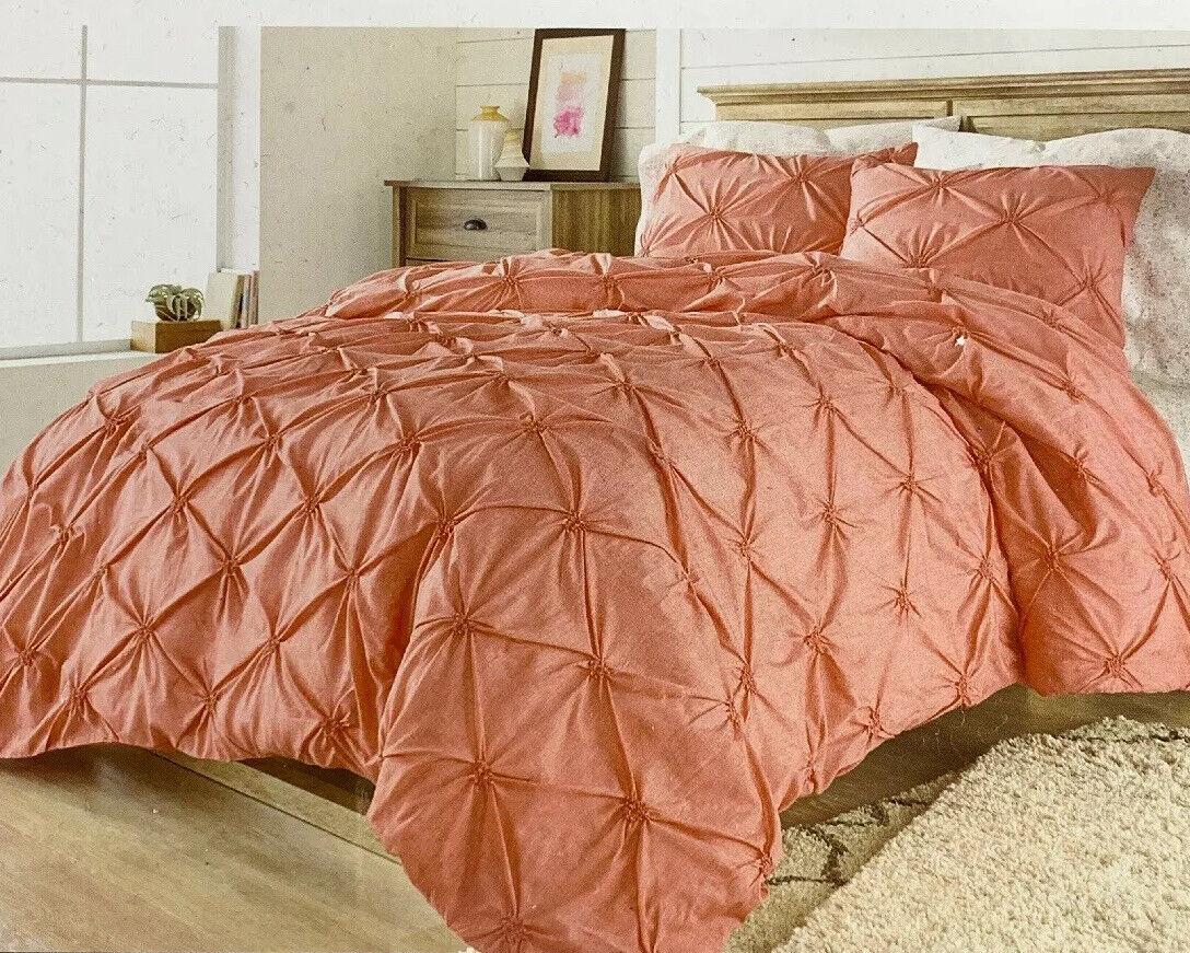 Better Homes and Gardens 3 Pc Duvet Comforter Cover Set Full Queen Pintuck