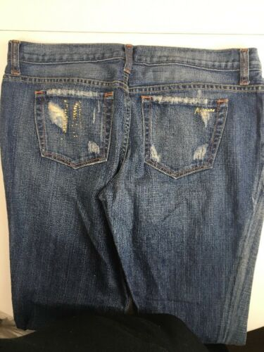 en 33 en moyens détresse Pantalon jeans Jean Jean fabrication jean Marciano taille américaine bleu BEYAqPz