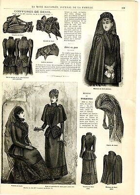 French MODE ILLUSTREE SEWING PATTERN August 2,1891 Corset