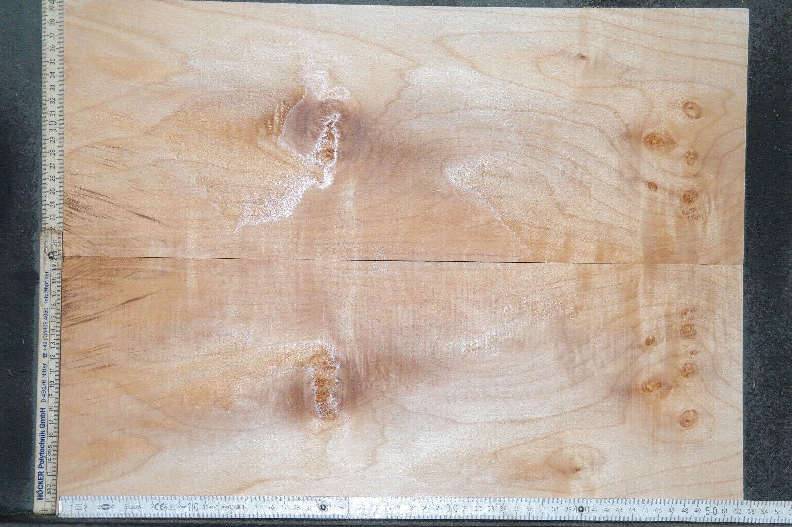 Tonewood Riegel maple Ahorn flamed Aufleimer 6,7 Guitar Tonholz Curly Topset 105