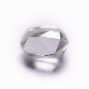 0.21 CARAT WHITE G IF DODECAHEDRON NATURAL ROUGH DIAMOND UNTREATED