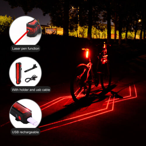 New Cycling Bicycle Spider Laser Taillights USB Charging Night Warning Light