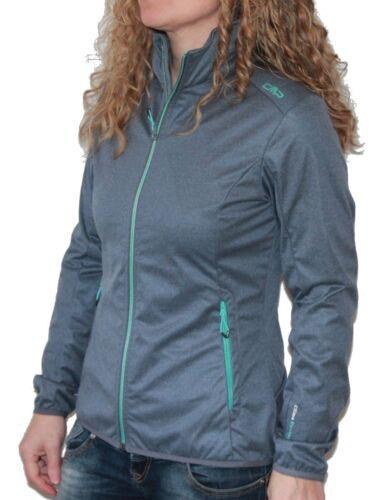 F.LLI Campagnolo CMP Damen Freizeit Wander Softshell Jacke leicht grau