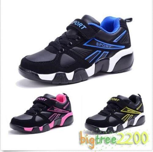 Casual Chic Enfants Garçons Filles Cuir Chaussures Sport Baskets confort École Chaussures T3