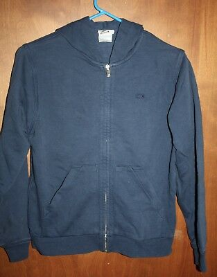 Lacoste Long Sleeve Zip Up Cotton Navy Sweatshirt Size 12 Factory Direct Selling Price