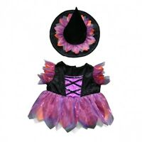 """Halloween Witch costume outfit teddy bear clothes fits 15"""" Build a Bear"""