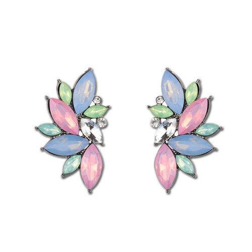 1 Pair Women Big Crystal Rhinestone Ear Stud Fashion Dangle Drop Earrings Gift