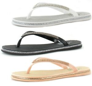 new arrival 5255c 9ff1d Details zu WOMENS COMFORT FLAT BEACH HOLIDAY SUMMER SANDALS LADIES STYLE  FLIP FLOP SHOES SZ