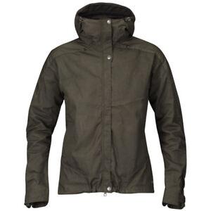 Fjallraven Women's Skogso Jacket 89337 (XS, S, M, L) (Black and Dark Olive)