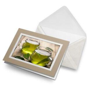 Greetings-Card-Biege-Healthy-Green-Tea-Organic-Drink-16538