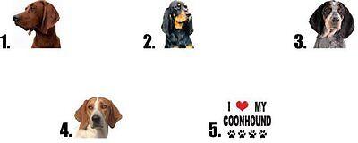 Waterslide Dog Nail Decals Set of 20 Coonhound Redbone, Treeing Walker, Bluetick