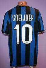 SNEIJDER # 10 INTER MILAN 2009/2010 HOME SHIRT NIKE PIRELLI SIZE XL