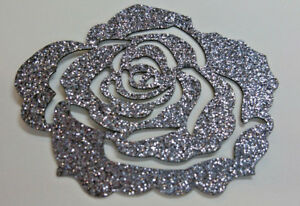 Rose-couleur-TITANE-GRIS-FONCE-Patch-termocollant-hotfix-Glitter-7-cm