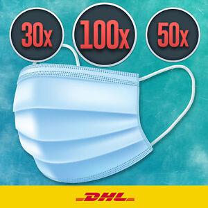 Mundschutz Maske Gesichtsmaske Filtermaske 3 Lagig Schutzmaske Atemschutz Einweg