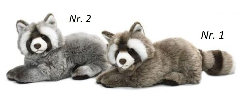 Raccoon 33 cm Colours LightGrey or Dark Grey Stuffed Toy Collection WWF 14549