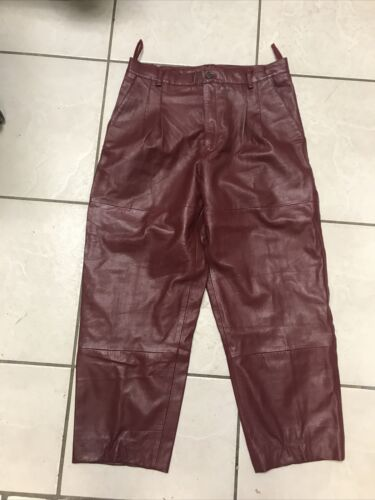 Bagazio Leather Pants RED SIZE 36  Mens