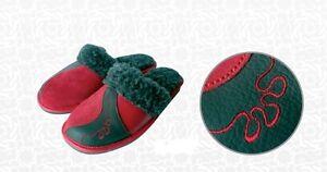 Cuero de las Señoras Zapatillas Calienta * producto hecho a mano de la UE * Tamaño 3,4,5,6,7,8