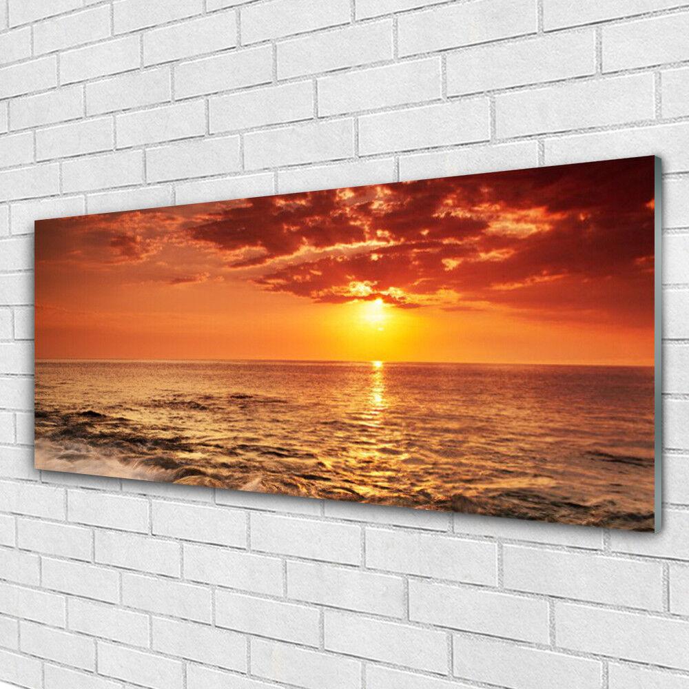 Immagini di vetro Muro Immagine Stampa su vetro 125x50 MARE SOLE PAESAGGIO