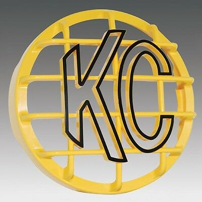 "7213 KC HiLiTES 6"" Round Yellow Stone Guard Cover (one)"
