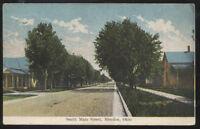 1909 POSTCARD MENDON OH/OHIO SOUTH MAIN STREET