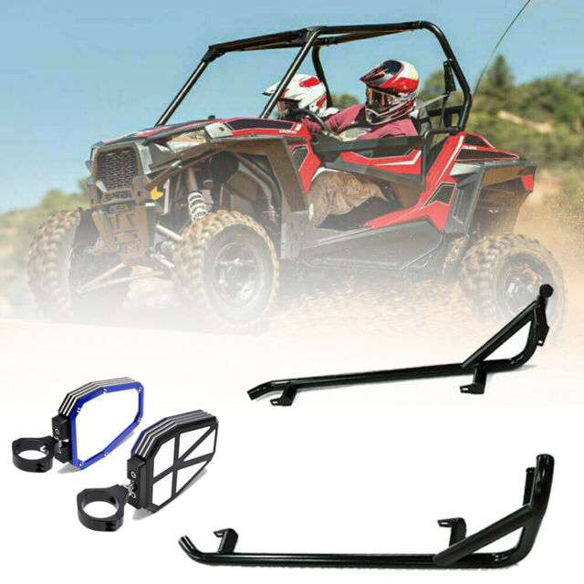 "Nerf Bars Rock Sliders + 1.75"" Side Mirrors For Polaris"