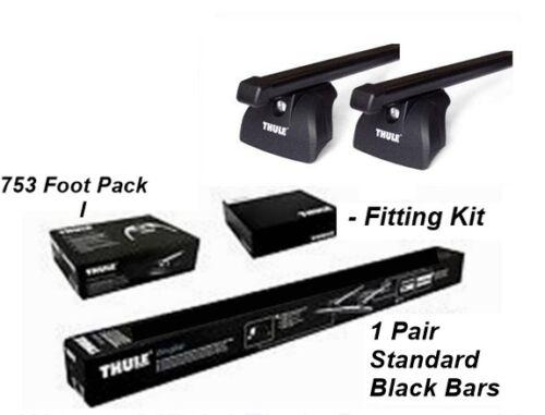 THULE LOCKING ROOF BARS ROOF RACK FIT MERCEDES C CLASS W205 4 DOOR SALOON 2014/>