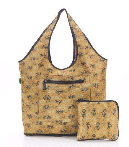 Eco Waterproof Weekend Bag Pocket Zip Cat Scottie Dog Hare Bikes Poppies